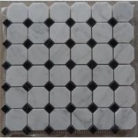Buy cheap Italy Bianco White Carrara Octagon Marble Mosaic Wall and Flooring Tiles from wholesalers
