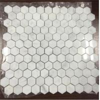 Buy cheap Polished or Honed Bianco Carrara White Marble Hexagon Mosaic Tiles for Wall Panel and Flooring from wholesalers