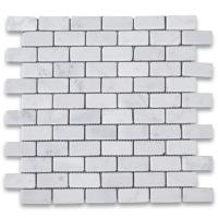 Buy cheap White Carrara Marble Brick Mosaic Tiles for Bathroom Wall and Floor from wholesalers