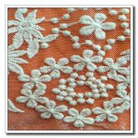 China Embroidered Floral Lace Fabric on sale