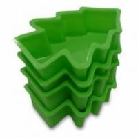 China CRAZY CHRISTMAS DEAL Silicone Christmas Baking Molds Cake Pans Tree Green, Set of 4, Perfect Holiday on sale