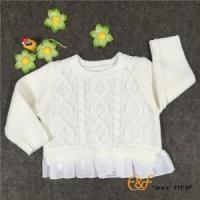 China Fashion Cable Knitted Girls Sweaters with Chiffon He on sale