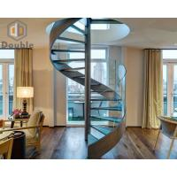 Best Spiral Stringer Staircase with Glass Step wholesale
