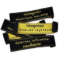 China Custom Iron on Woven Labels Woven Patches with Heat Cut Border on sale