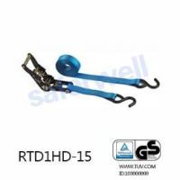 China Ratchet tie down Cargo Tie Down with Plastic Rubber High Tenacity polyester heavy duty with 6M on sale