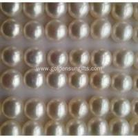China 9-9.5mm Flat Round Shaped Matched Pearl Loose Beads on sale