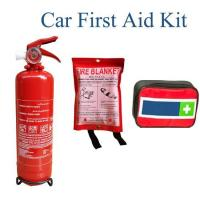 China Vehicle First Aid Kit with Fire Extinguisher and Fire Blanket on sale