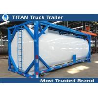 Best ISO tank container tanker trailer for diesel fuel , petrol , palm oil transportation wholesale