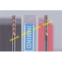 0.5UM Grain Size Tialn Coated End Mills , Long Flute Square End Custom Milling Cutters