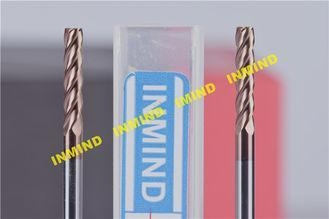 Cheap 0.5UM Grain Size Tialn Coated End Mills , Long Flute Square End Custom Milling Cutters for sale