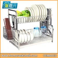 Double Layered Assembled Dish Racks Dish Drying Rack Stainless Steel Dish Storage Rack