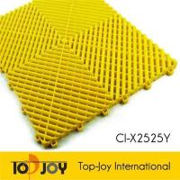 China Outdoor yellow durable interlocking garage floor tiles on sale