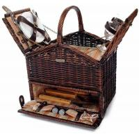 China Picnic & Beyond Classique Elite Picnic Basket with BBQ tools and Service for Two on sale