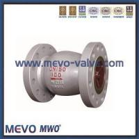 China Cast Steel and Carbon Steel Flanged Axial Flow Check Valve on sale
