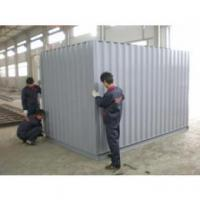 20ft Folding Steel Storage Sheds , Waterproof Color Steel Sheet For Frame