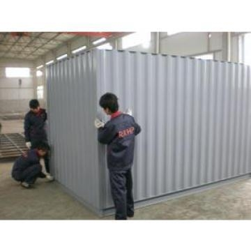 Cheap Stackable Steel Storage Sheds Waterproof , Sheet Connected Installation Design for sale
