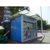 Buy cheap Portable Durable Container Kiosk , Galvanized Steel News Stand from wholesalers