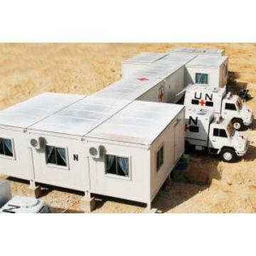 China Flat Roof Mobile Modular Homes With Steel Structure For Dormitory