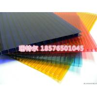 China twin-wall pc hollow sheet clear and color polycarbonate sheet on sale