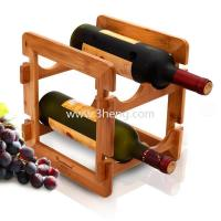 China natutal bamboo wine rack bamboo wine bottle holder on sale