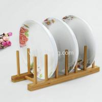 eco-friendly bamboo dish drying rack for kitchenware