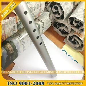 China aluminium cnc factory punching extrusion profile tubing sizes OEM