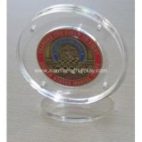 Buy cheap Acrylic Coin Display Holder Case with Stand from wholesalers