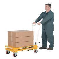 Elevating Cart Lifts Auto-Shift Hydraulic Elevating Mobile Lift Cart