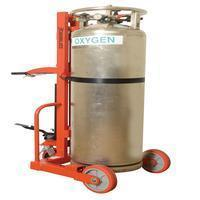 China Drum Equipment Hydraulic Large Liquid Gas Cylinder Cart - No Brake on sale
