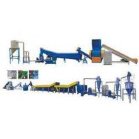 Crushing Waste PET Recycling Line With Hot Water Tank New Condition