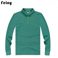 China Mens Long Sleeve Polo T Shirts on sale