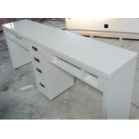 Buy cheap manicure table for sale White glossy double seat manicure table BMT-001 from wholesalers