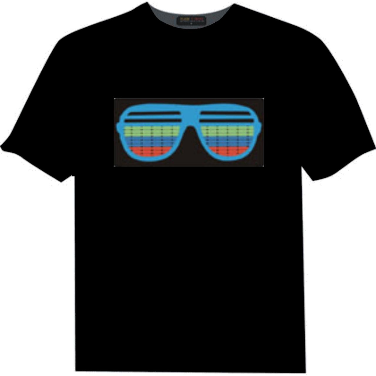 China wholesale 100% cotton custom led t-shirt / el t-shirt/el equalizer t-shirt on sale