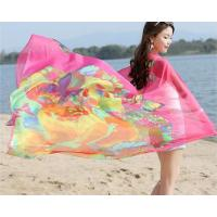 Buy cheap Best Ladies Long Lightweight Chiffon Scarf with Suncover Beach Printing Polyester For Womens from wholesalers