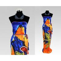 Buy cheap Large 100% Silk Beach Head Square Printing Paisley Wrap Skirt Scarf from wholesalers