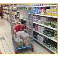 Buy cheap Supermarket picking roll container with plastic bottom from wholesalers