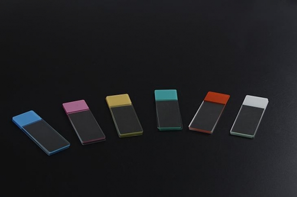 China Color frosted Microscope slides with beveled edges