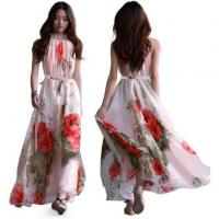 Buy cheap Flower Bohemian Summer Casual Maxi Dress for Women from wholesalers