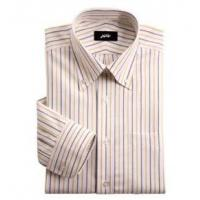 China Iron oxford cotton shirt Yellow and black stripes on sale