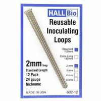 Best Hall Bio 602-12 2mm x 100mm Reusable Inoculating Loops, Nichrome A 12 Pack wholesale