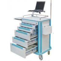 Best Medical Cart Luxury ABS EMERGENCY HOSPITAL TROLLEY with monitor stand wholesale