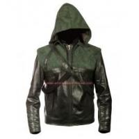 Buy cheap Arrow Oliver Queen Green Leather Jacket product