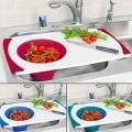 Best Over the sink cutting board with collapsible silicone strainer wholesale