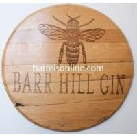 Best Barrel Heads & Clocks Oak Barrel Head - Barrel end hangs flat on the wall wholesale