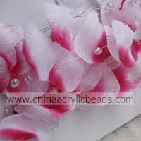China fabric silk rose petal garland with wired hanging--SL001- fabric petal on sale