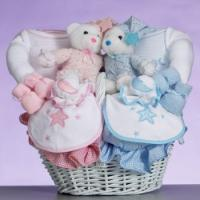 China Baby Gift Baskets Celestial Baby Gift Basket-Gift For Twins on sale