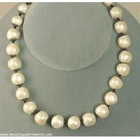 China Good-looking Baroque Faux Pearl Necklace Signed LAGUNA on sale