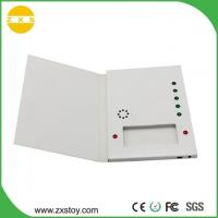 China USB Rechargeable Paper Talking Voice Recorder Greeting Card with Chocolate Slot on sale