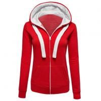 China Womens Zip Up Fleece Hoodie Sweater Jacket Active Soft on sale