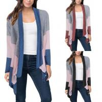 Color Block Asymmetric Drape Front Cardigan Long